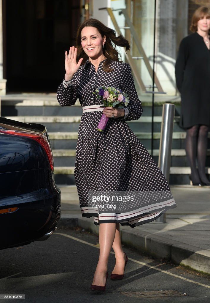 Catherine, Duchess of Cambridge visits The Foundling Museum on November 28, 2017 in London, England.