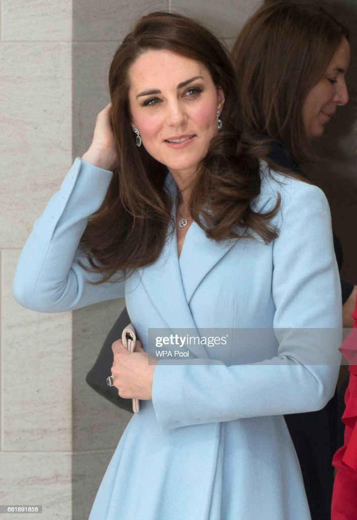 Catherine, Duchess of Cambridge visits the Grand Duke Jean Museum of Modern Art (MUDAM) to view exhibitions by British artists Sir Tony Cragg and Darren Almond during a one day visit on May 11, 2017 in Luxembourg. The Duchess is participating in the official commemoration of the 1867 Treaty of London and will attend a series of engagements to celebrate the cultural and historic ties between the UK and Luxembourg.