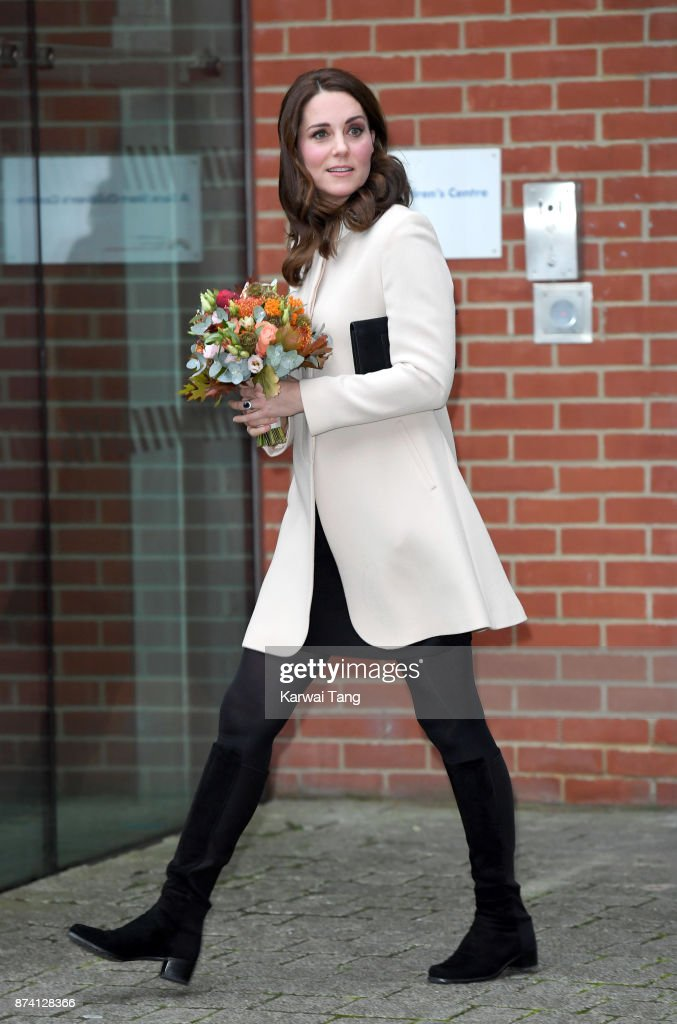 Catherine, Duchess of Cambridge visits the Hornsey Road Children's Centre on November 14, 2017 in London, England.