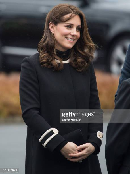 Catherine Duchess of Cambridge visits the Jaguar Land Rover's Solihull Manufacturing Plant on November 22 2017 in Birmingham England