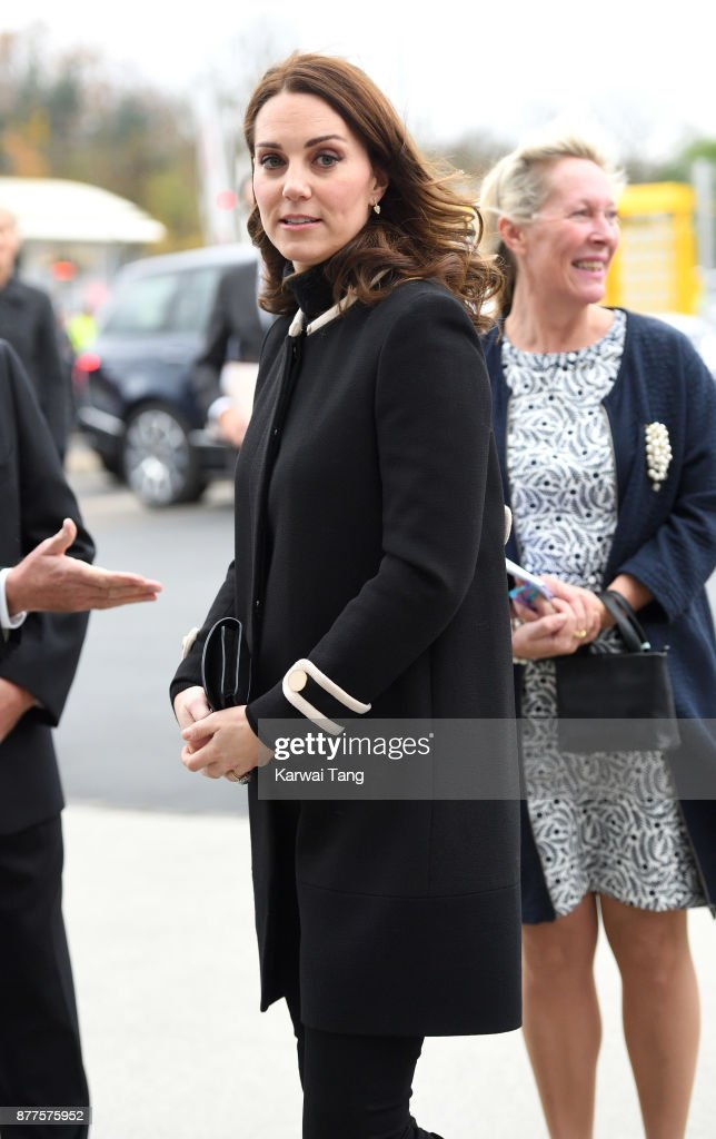 Catherine, Duchess of Cambridge visits the Jaguar Land Rover's Solihull Manufacturing Plant on November 22, 2017 in Birmingham, England.