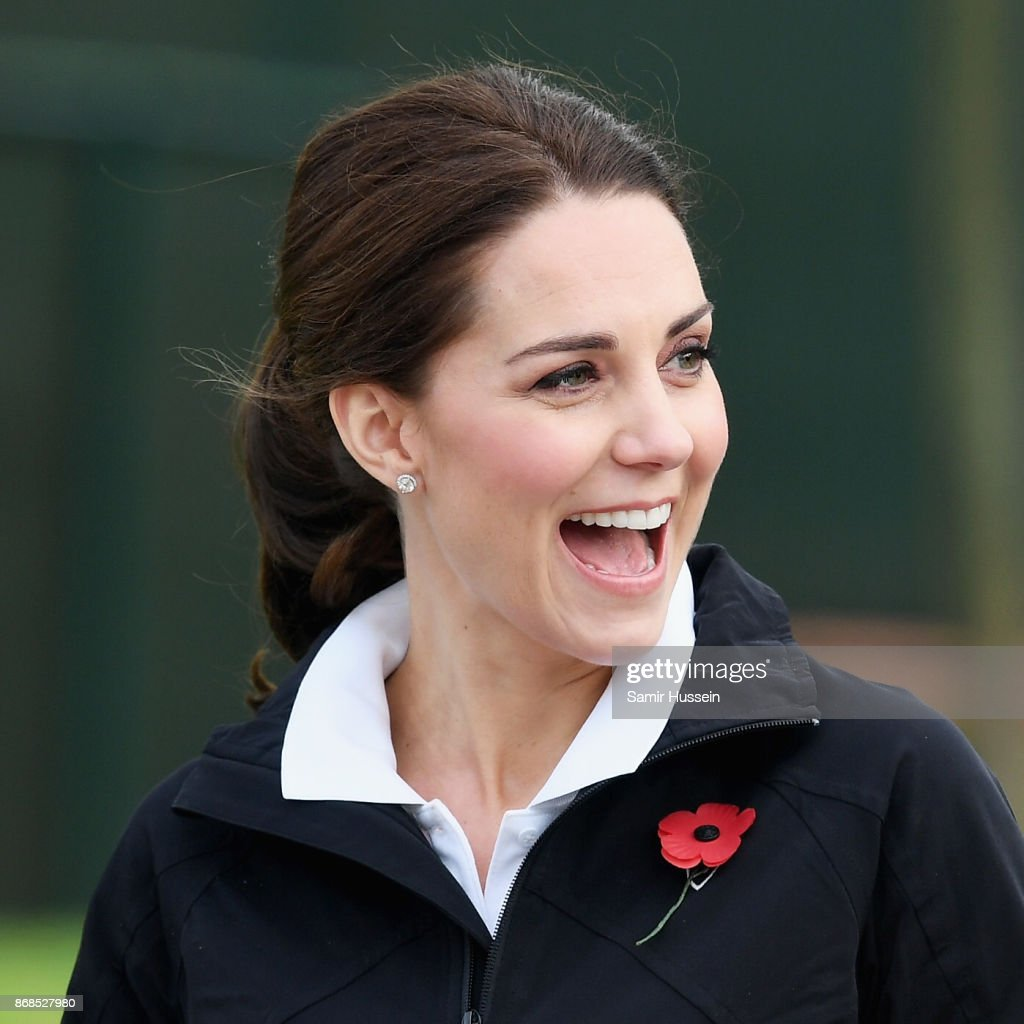Duchess Of Cambridge Dresses Down For A Tennis Session