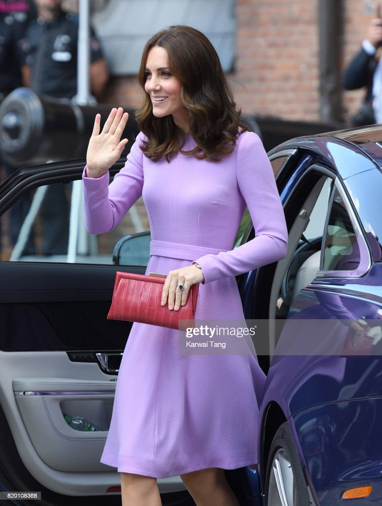 Catherine, Duchess of Cambridge visits the Maritime Museum on day 3 of their official visit to Germany on July 21, 2017 in Hamburg, Germany.