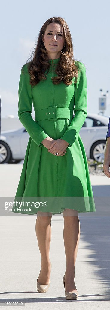 Catherine Duchess of Cambridge visits the National Arboretum on April 24 2014 in Canberra Australia The Duke and Duchess of Cambridge are on a...