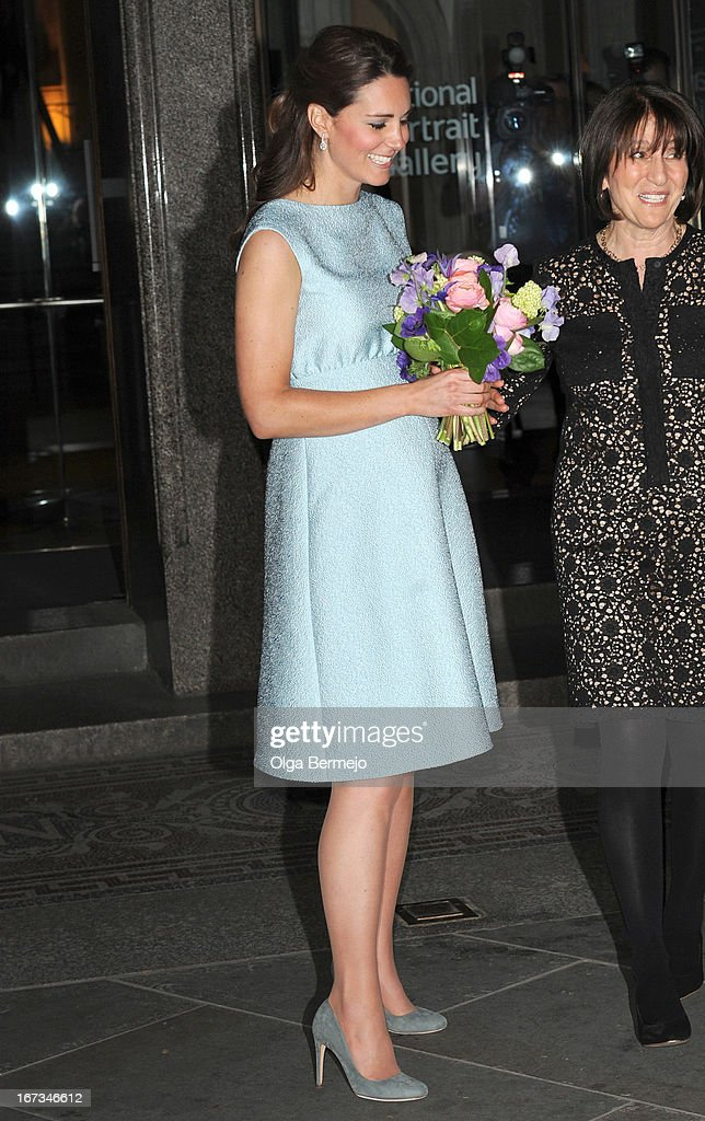 <a gi-track='captionPersonalityLinkClicked' href=/galleries/search?phrase=Catherine+-+Duchess+of+Cambridge&family=editorial&specificpeople=542588 ng-click='$event.stopPropagation()'>Catherine</a>, Duchess of Cambridge visits The National Portrait Gallery on April 24, 2013 in London, England.