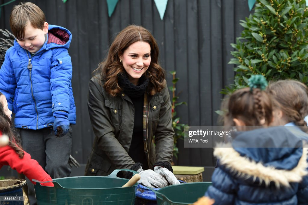 The Duchess Of Cambridge Visits Robin Hood Primary School