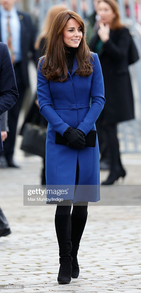 Catherine Duchess of Cambridge visits the Royal Research Ship 'Discovery' which carried Scott and Shackleton on their first expedition to the...