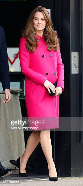 Catherine Duchess of Cambridge visits the Stephen Lawrence Centre Deptford during a day of engagements to support development opportunities for young...