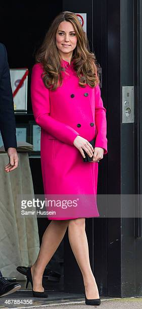 Catherine Duchess of Cambridge visits the Stephen Lawrence Centre on March 27 2015 in London England