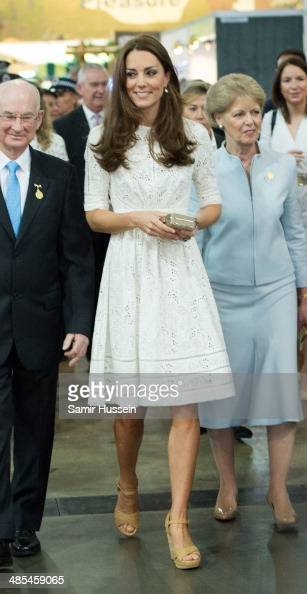 Catherine Duchess of Cambridge visits the Sydney Royal Easter Show on April 18 2014 in Sydney Australia The Duke and Duchess of Cambridge are on a...