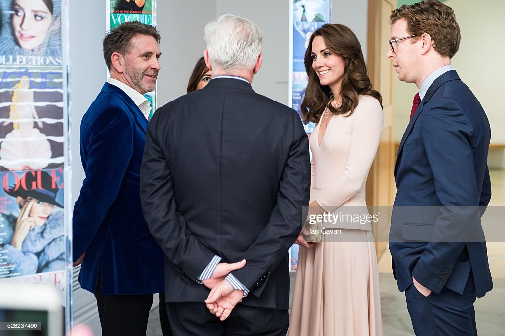<a gi-track='captionPersonalityLinkClicked' href=/galleries/search?phrase=Catherine+-+Duchess+of+Cambridge&family=editorial&specificpeople=542588 ng-click='$event.stopPropagation()'>Catherine</a>, Duchess of Cambridge visits the 'Vogue 100: A Century Of Style' exhibition at National Portrait Gallery on May 4, 2016 in London, England. The Duchess appears on the cover of the centenary issue in June 2016.
