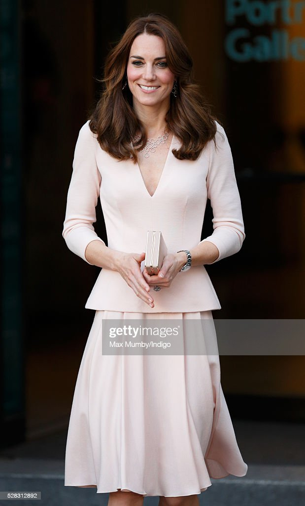 Catherine, Duchess of Cambridge visits the 'Vogue 100: A Century of Style' exhibition at the National Portrait Gallery on May 4, 2016 in London, England. The Duchess appears on the cover of the centenary issue in June 2016.