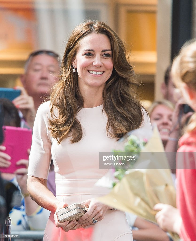Catherine, Duchess of Cambridge visits Truro Cathedral during a visit to Cornwall on September 1, 2016 in Truro, United Kingdom.