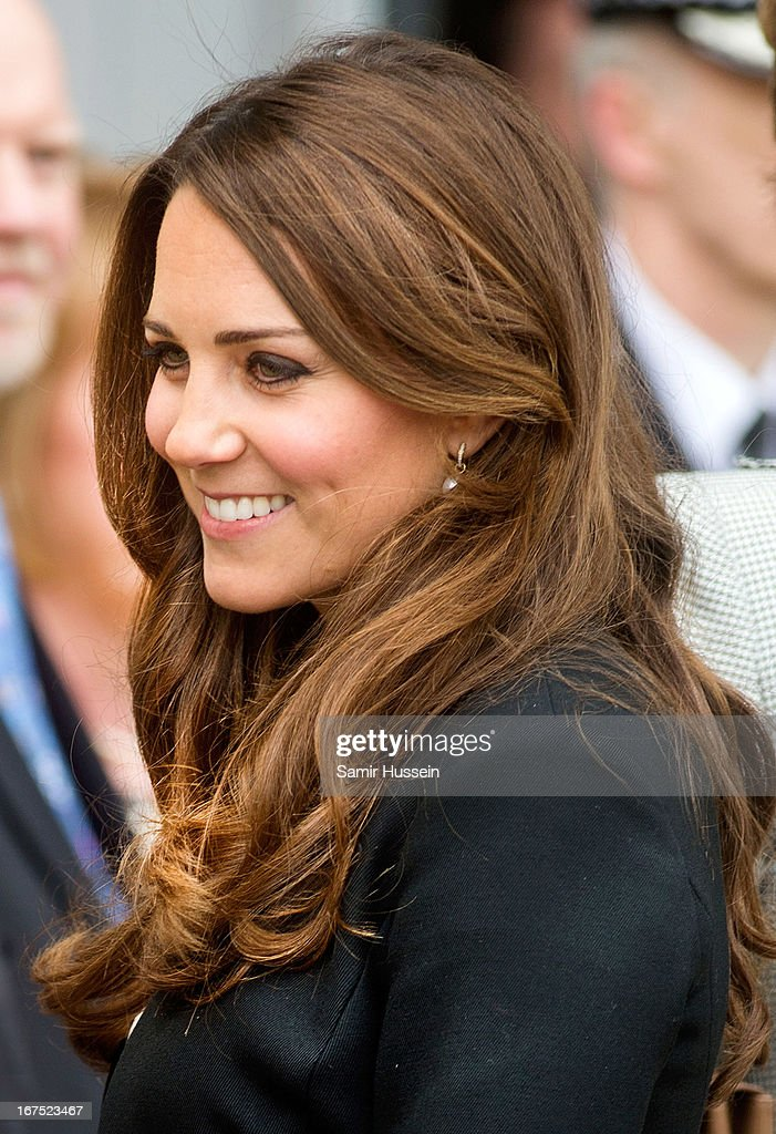 Catherine, Duchess of Cambridge visits Warner Bros Studios on April 26, 2013 in Watford, England.