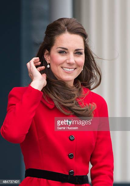 Catherine Duchess of Cambridge visits Wigram Air Force Museum on April 14 2014 in Christchurch New Zealand The Duke and Duchess of Cambridge are on a...
