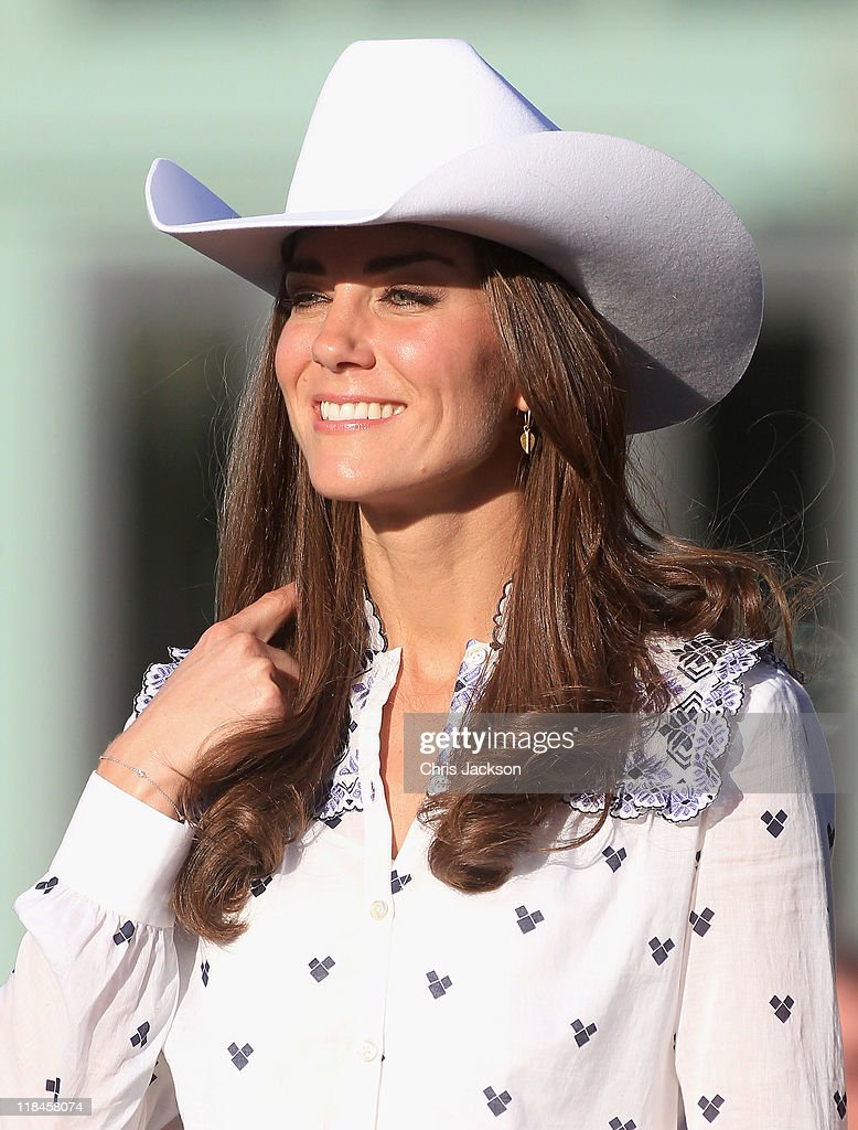 Catherine, Duchess of Cambridge watches a rodeo demonstration at a Government Reception at the BMO Centre on July 7, 2011 in Calgary, Canada. The newly married Royal Couple are on the eighth day of their first joint overseas tour. The 12 day visit to North America is taking in some of the more remote areas of the country such as Prince Edward Island, Yellowknife and Calgary. The Royal couple started off their tour by joining millions of Canadians in taking part in Canada Day celebrations which mark Canada's 144th Birthday.