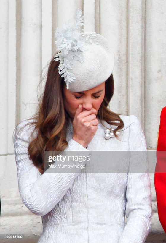 <a gi-track='captionPersonalityLinkClicked' href=/galleries/search?phrase=Catherine+-+Duchess+of+Cambridge&family=editorial&specificpeople=542588 ng-click='$event.stopPropagation()'>Catherine</a>, Duchess of Cambridge watches the fly-past from the balcony of Buckingham Palace during Trooping the Colour, Queen Elizabeth II's Birthday Parade on June 14, 2014 in London, England.