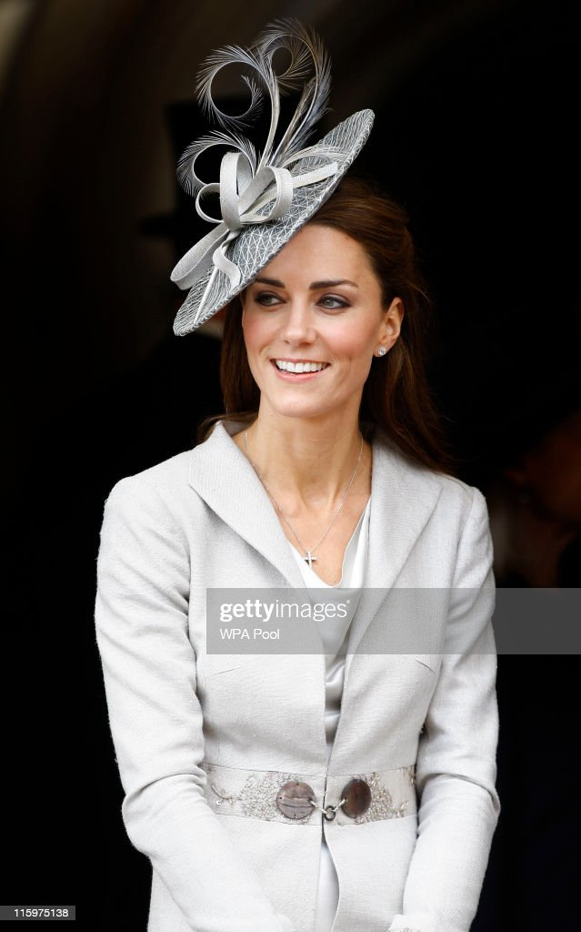 <a gi-track='captionPersonalityLinkClicked' href=/galleries/search?phrase=Catherine+-+Duchess+of+Cambridge&family=editorial&specificpeople=542588 ng-click='$event.stopPropagation()'>Catherine</a>, Duchess of Cambridge watches the Garter Service pass by on June 13, 2011 in Windsor, England. The Order of the Garter is the senior and oldest British Order of Chivalry, founded by Edward III in 1348. Membership in the order is limited to the sovereign, the Prince of Wales, and no more than twenty-four members.