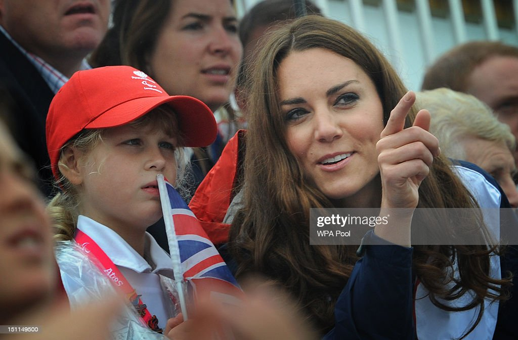 <a gi-track='captionPersonalityLinkClicked' href=/galleries/search?phrase=Catherine+-+Duchess+of+Cambridge&family=editorial&specificpeople=542588 ng-click='$event.stopPropagation()'>Catherine</a>, Duchess of Cambridge watches the rowing finals on day 4 of the London 2012 Paralympic Games at Eton Dorney on September 2, 2012 in Windsor, England.