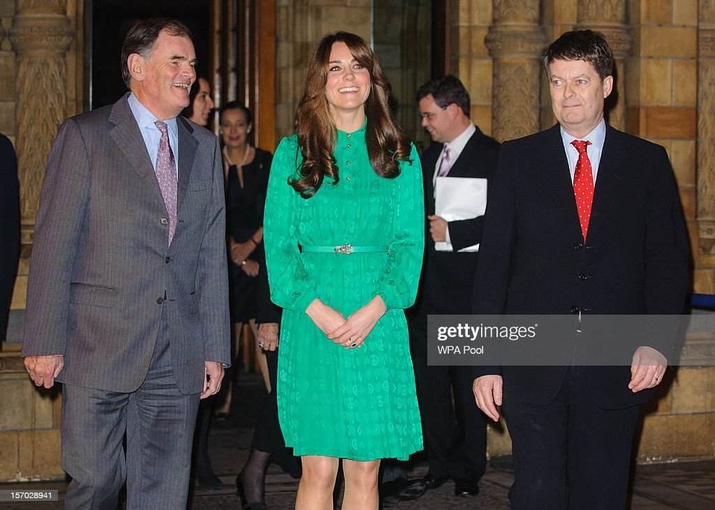 <a gi-track='captionPersonalityLinkClicked' href=/galleries/search?phrase=Catherine+-+Duchess+of+Cambridge&family=editorial&specificpeople=542588 ng-click='$event.stopPropagation()'>Catherine</a>, Duchess of Cambridge with Chairman of Trustees Oliver Stocken (L) and Director of the Natural History Museum Doctor Michael Dixon attend the official opening of The Natural History Museums's Treasures Gallery at Natural History Museum on November 27, 2012 in London, England.