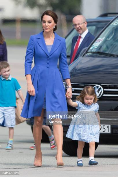 Catherine Duchess of Cambridge with daughter Princess Charlottet in Warsaw Poland on 19 July 2017