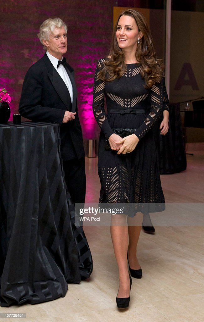 Catherine Duchess of Cambridge with Fundraising Director Tristan MillingtonDrake during an Autumn Gala Evening in Support of Action on Addiction at...