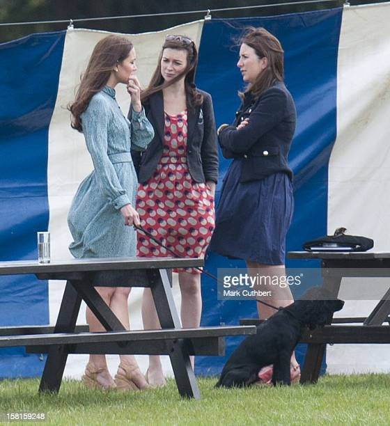 Catherine Duchess Of Cambridge With Her Dog Lupo At The Audi Polo Challenge Charity Polo Match At Coworth Park Polo Club In Ascot England