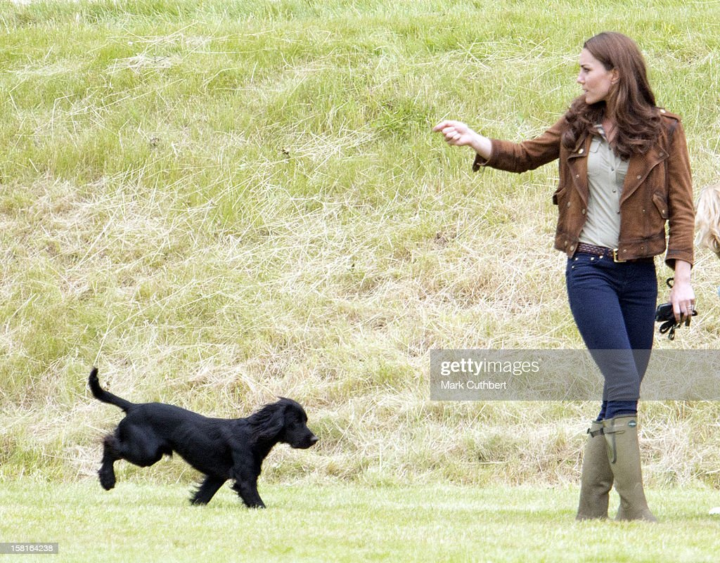Catherine, Duchess Of Cambridge With Her Dog Lupo At The Tusk Charity Polo Match At Beaufort Polo Club Near Tetbury.