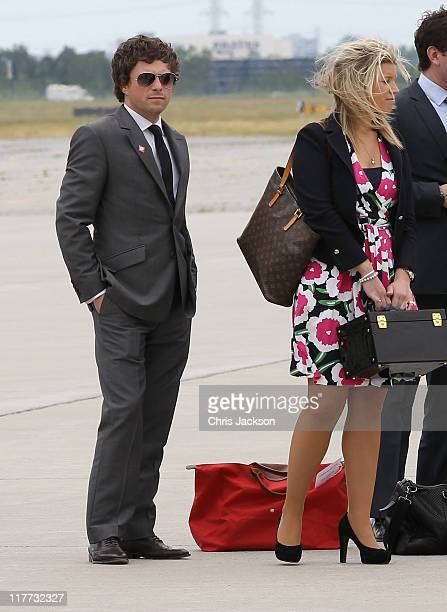 Catherine Duchess of Cambridge's hairdresser James Pryce arrives at MacdonaldCartier International Airport on June 30 2011 in Ottawa Canada The newly...