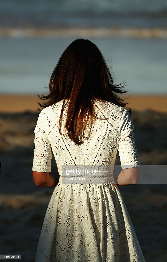 <a gi-track='captionPersonalityLinkClicked' href=/galleries/search?phrase=Catherine+-+Duchess+of+Cambridge&family=editorial&specificpeople=542588 ng-click='$event.stopPropagation()'>Catherine</a>, Duchess of Cambridge,watches a Surf Life Saving demonstration at Manly Beach on April 18, 2014 in Sydney, Australia. The Duke and Duchess of Cambridge are on a three-week tour of Australia and New Zealand, the first official trip overseas with their son, Prince George of Cambridge.
