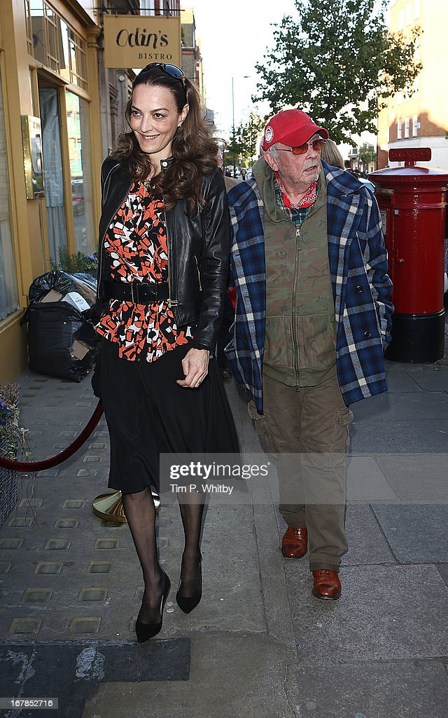 Catherine Dyer and David Bailey attend the Human Relations private view at Imitate Modern on May 1, 2013 in London, England.
