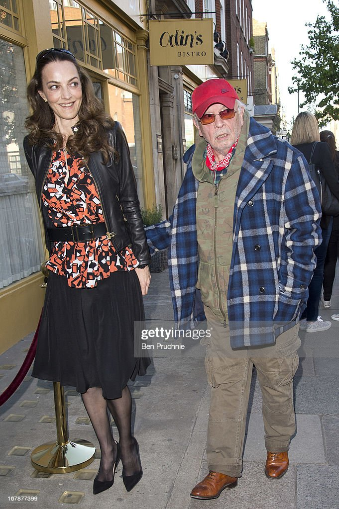 Catherine Dyer and David Bailey sighted arriving at the Human Relations Private View on May 1, 2013 in London, England.