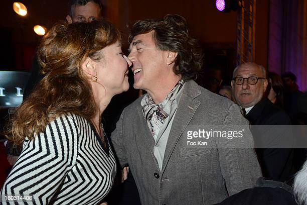 Catherine Frot and Francois Cluzet attend the 'Henri Langlois' Cinema Awards 2013 at Mairie de Vincennes on January 28 2013 in Vincennes France