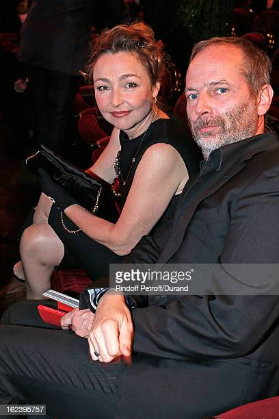 Catherine Frot and guest attend the Cesar Film Awards 2013 at Theatre du Chatelet on February 22 2013 in Paris France