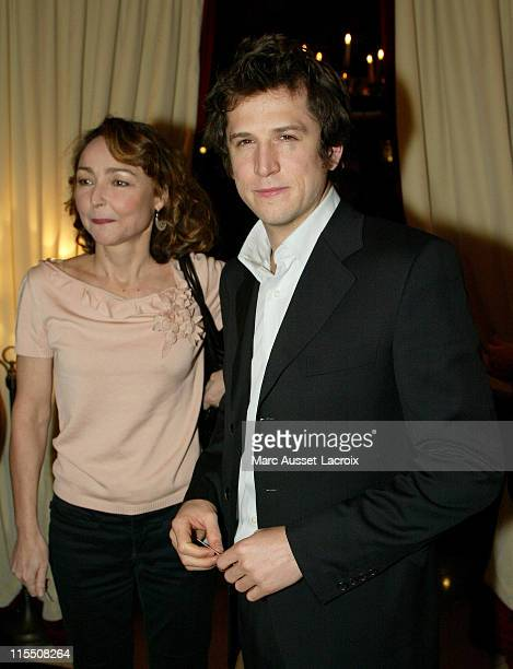 Catherine Frot and Guillaume Canet during 2007 Cesars Awards Nomination Dinner at Le Fouquet's in Paris France