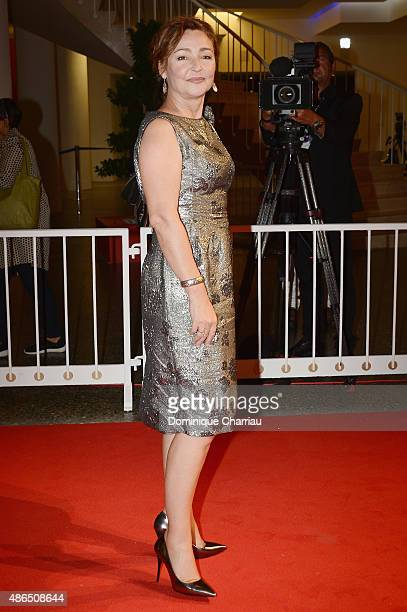 Catherine Frot attends a premiere for 'Marguerite' during the 72nd Venice Film Festival on September 4 2015 in Venice Italy