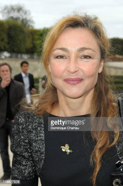 Catherine Frot attends the Karl Lagerfeld Pret a Porter show as part of the Paris Womenswear Fashion Week Spring/Summer 2010 on October 4 at Jardin...
