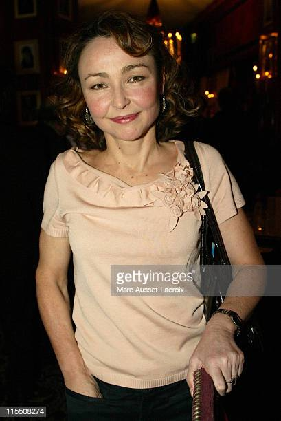 Catherine Frot during 2007 Cesars Awards Nomination Dinner at Le Fouquet's in Paris France