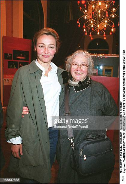Catherine Frot 'Isabelle Sadoyan' at the play 'La Reine De Beaute' by Leenane