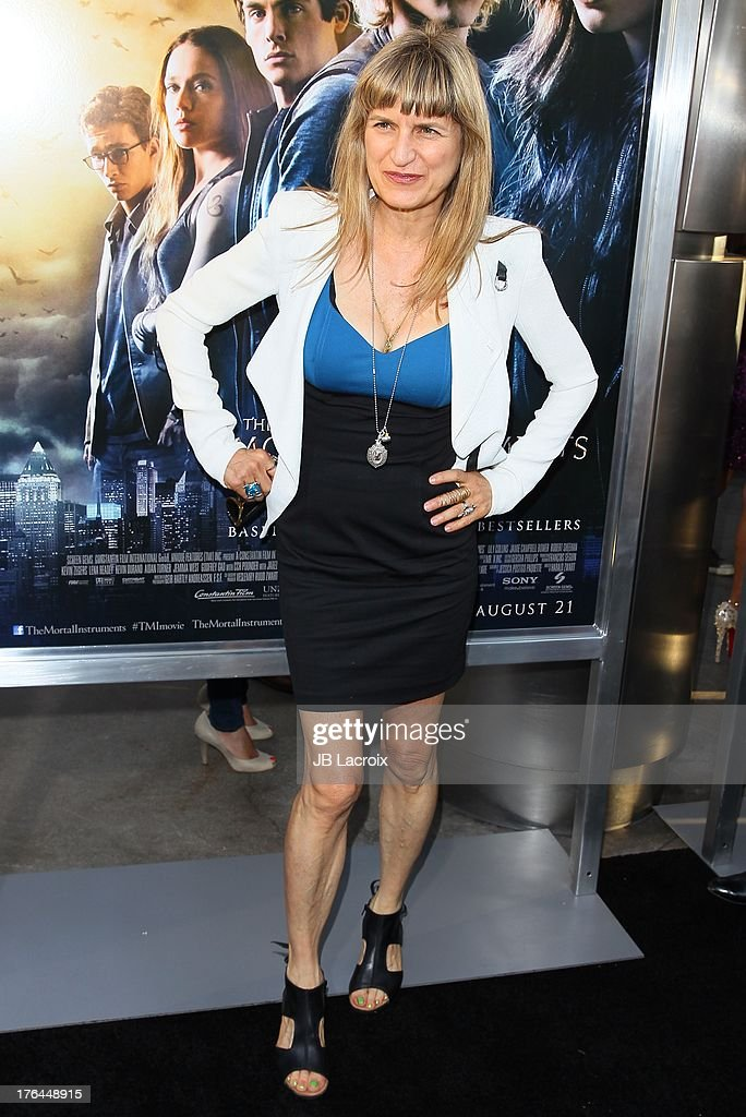 Catherine Hardwicke attends 'The Mortal Instruments: City Of Bones' Los Angeles premiere held at ArcLight Cinemas Cinerama Dome on August 12, 2013 in Hollywood, California.