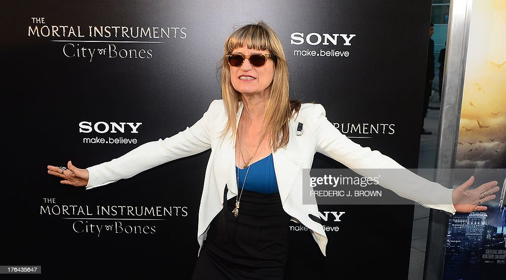Catherine Hardwicke poses on arrival for the premiere of the film 'Mortal Instruments: City of Bones' in Hollywood, California on August 12, 2013. The film opens nationwide across the US on August 21. AFP PHOTO/Frederic J. BROWN