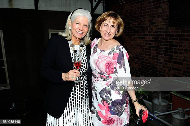Catherine Harris Shraga and Susan Mathisen attend Historic Royal Palaces Patrons Secret Garden Party at Merchant's House Museum on May 24 2016 in New...