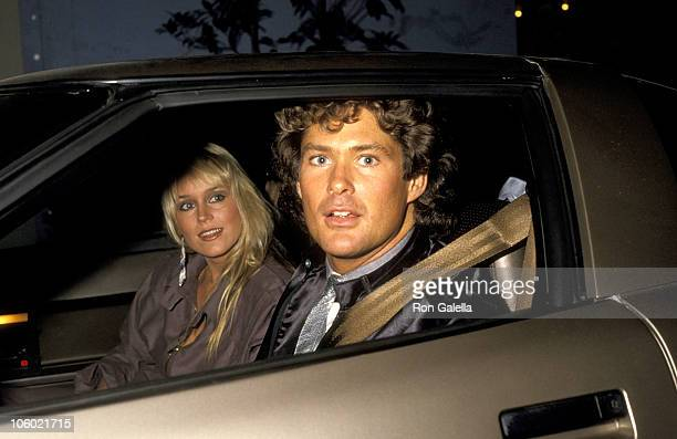 Catherine Hickland and David Hasselhoff during NBC Affiliates Party at NBC Studios in Burbank California United States