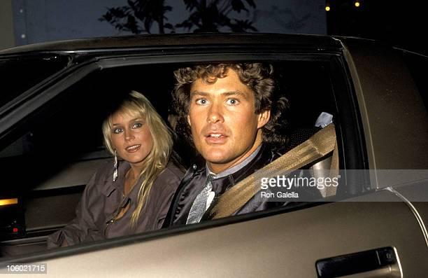 Catherine Hickland and David Hasselhoff during NBC Affiliates Party at NBC Studios in Burbank California United States
