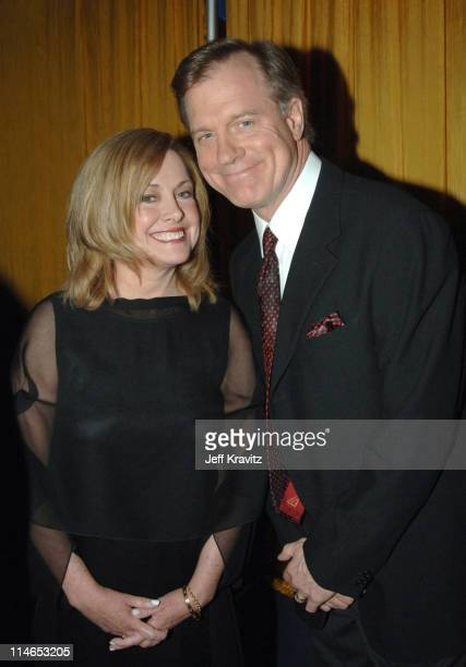 Catherine Hicks and Stephen Collins during 2005 TV Land Awards Backstage at Barker Hangar in Santa Monica California United States