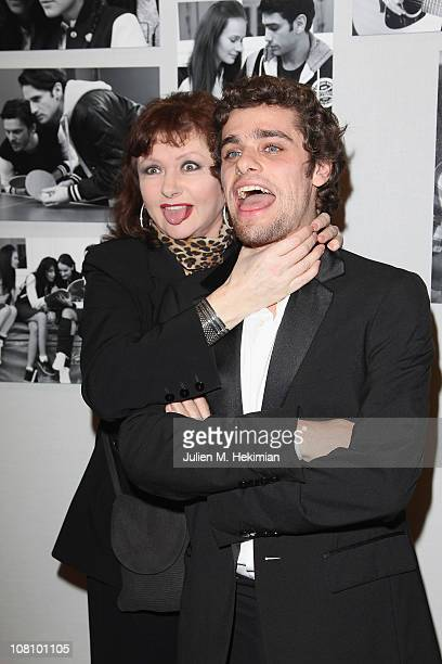 Catherine Jacob and Arthur Dupont attend the Chaumet's Cocktail Party and Dinner for Cesar's Revelations 2011 on January 17 2011 in Paris France