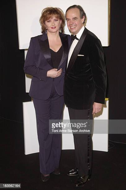 Catherine Jacob and Frederic Mitterrand during Cesar Awards Ceremony 2002 Press Room at Chatelet Theater in Paris France