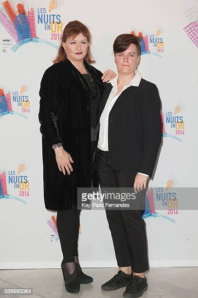 Catherine Jacob and Vibeke Heide attend the 'Les Nuits En Or 2016' Gala dinner at UNESCO on June 13 2016 in Paris France
