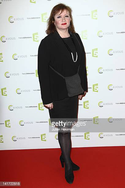 Catherine Jacob attends 'C a Vous' 500th Edition Celebration on March 22 2012 in Paris France