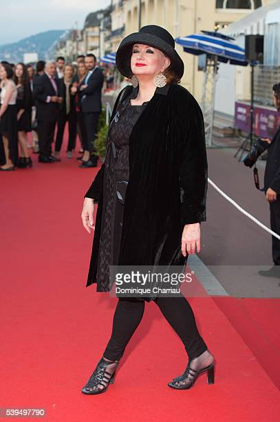 Catherine Jacob attends the 30th Cabourg Film Festival Closing ceremony on June 11 2016 in Cabourg France